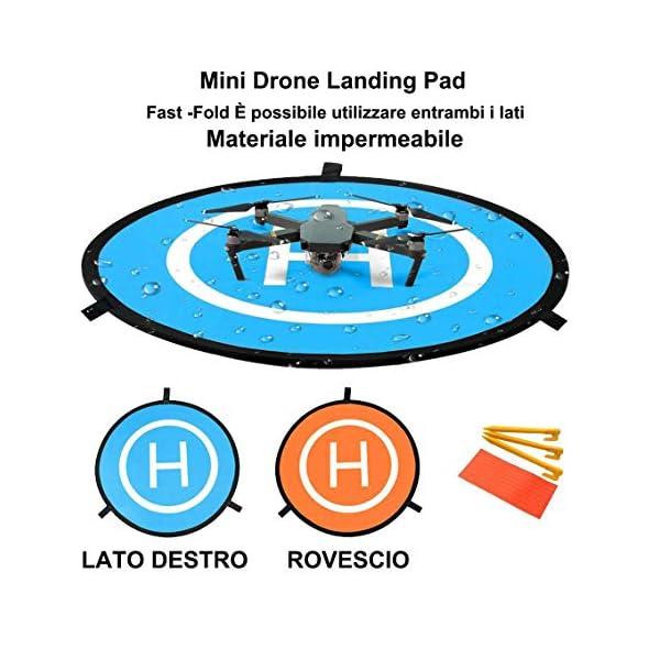 LVHERO Drone Landing Pad, Landing Pad Pieghevoli Portatili Impermeabili Universali D 55cm per Elicotteri RC Drones, Droni PVB, DJI Mavic PRO Phantom 2/3/4 / PRO, Antel Robotic, 3DR Solo 3 spesavip
