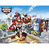 CAKEUSA Transformers Rescue Bots Characters Birthday Cake Topper Edible Image 1/4 Sheet Frosting