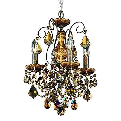 Schonbek 3648-49H Swarovski Lighting New Orleans Chandelier, Black Pearl