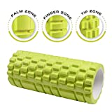 Dr. Health (TM) 13 Inch Deep Tissue Grid Yoga Fitness Massage Foam Roller (Green)