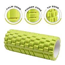 Dr. Health (TM) 13 Inch Deep Tissue Grid Yoga Fitness Massage Foam Roller (Green)