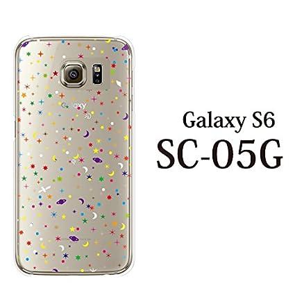 91ba824890 ポップ・スター 星 SPACE クリア / GALAXY S6 docomo SC-05G ギャラクシー S6ケース