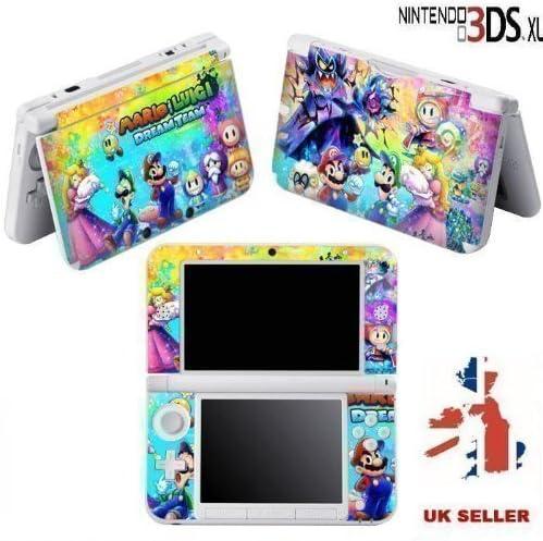 Mario Luigi Dream Team Vinyl Skin Sticker For Nintendo 3ds Xl