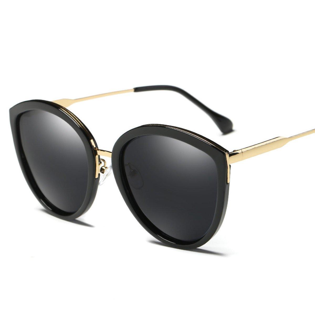 WKAIJC Mode Damen Polarisiertes Licht Kreisförmig Persönlichkeit Bequem Kreativ Schöne Sonnenbrillen Mode Sonnenbrillen,D