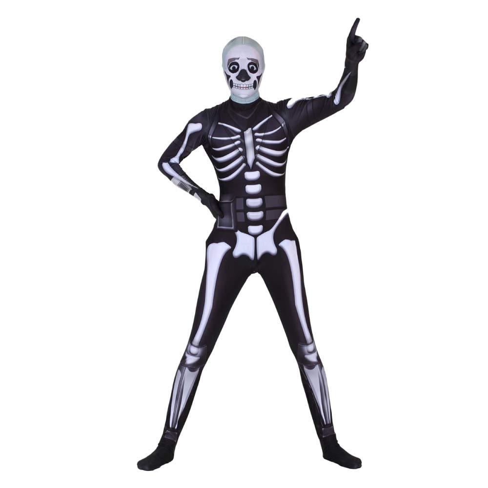 XJLG Halloween Thema Rollenspiele Bühnen Performance Strumpfhosen schwarz 骷髅 Ritter Partei Maskerade Partei Kostüm Requisiten (Farbe : SCHWARZ, größe : XXXL)