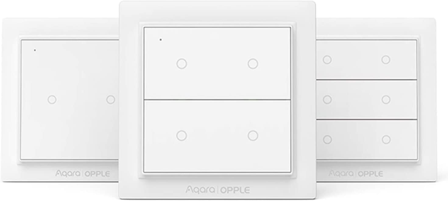 Para Aqara Wireless Scene Switch,El Interruptor de Pared Inteligente Inalámbrico ZiGBee Version para Apple HomeKit,Double button