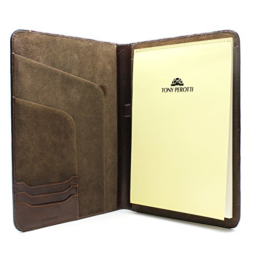 Luggage Depot USA, LLC Tony Perotti Italian Leather Express Business 8.5'' X 11'' Writing Padfolio, Brown by Luggage Depot USA, LLC