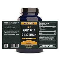 Malic Acid w/ Magnesium MEGA STRENGTH 1000 mg per capsule/ 1000 mg daily/ 50.000 mg per bottle Organic Vegan Vcaps