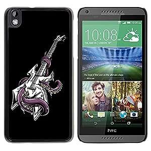 Be Good Phone Accessory // Dura Cáscara cubierta Protectora Caso Carcasa Funda de Protección para HTC DESIRE 816 // Octopus Guitar