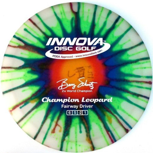 Innova Disc Golf I-Dye Champion Leopard Golf Disc, 170-172gm (Colors may vary) by Innova Disc Golf