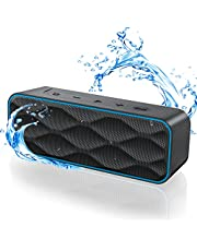 Waterproof Bluetooth Speaker 5.0, Speakers Bluetooth Wireless with 20 Watts, Hi-Quality Sound & Bass, 30M Wireless Range, IPX7, 36Hs Playtime, Portable Speaker for Shower, Home, Outdoors, Travel