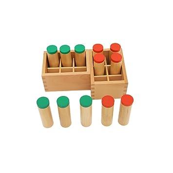 Juegos De Montessori Sensorial Auditiva Titular Contenedor De