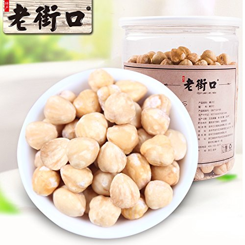 Aseus Chinese delicacies [Old Street - original hazelnut kernel 400g] Pregnant Women snacks, without adding nuts, baked canned by Aseus-Ltd