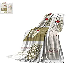 "Bed Cover Digital Printing WarmSet of Business or Invitation Cards templates Corporate identit Throw Blanket 62""x60"""