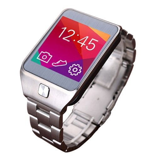 NO.1 Gtwo G2 1.54 inch Waterproof TFT Screen Smartwatch with Metal Band for Smartphone, Bluetooth 4.0 / 2.0MP Camera / Heart Rate Sensor / Pedometer / Remote-control