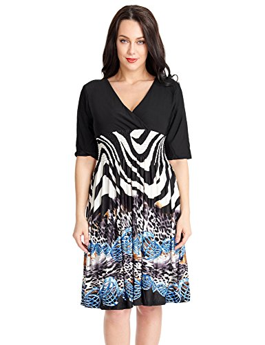 black and white african print dress - 8
