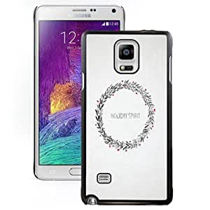 DIY and Fashionable Cell Phone Case Design with Holiday Spirit Laurel Drawing Galaxy Note 4 Wallpaper