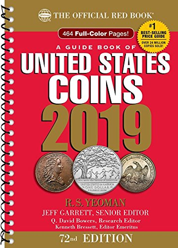 2019 – Red Book 72nd Edition – Spiral Edition – US Coin Values! – – –