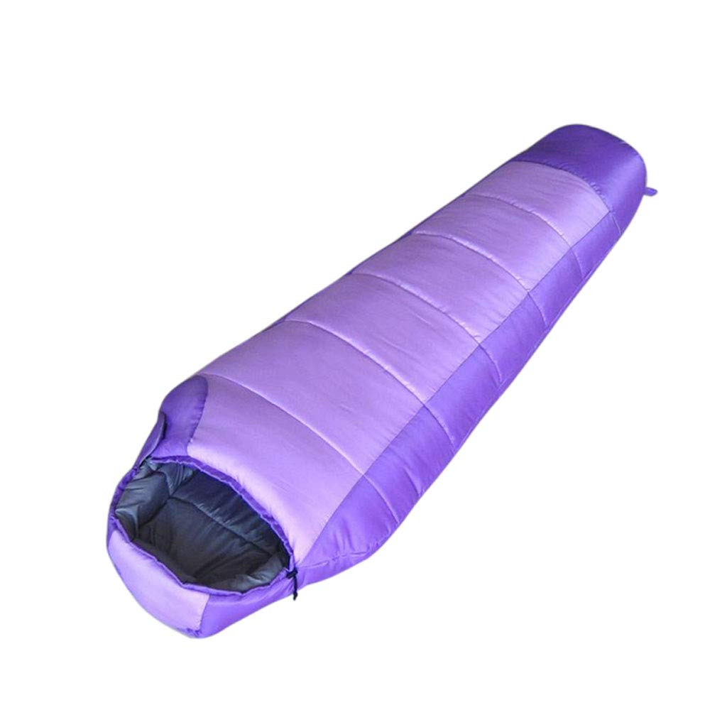 LCSHAN 寝袋ポリエステル多機能二重防水アウトドアトラベル大人アウトドア (色 : Green) B07L6G39FZ Purple  Purple