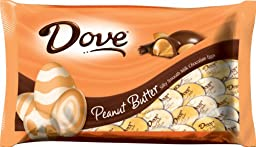 Dove Silky Smooth Eggs, Peanut Butter and Milk Chocolate, 7.94-Ounce Packages (Pack of 4)