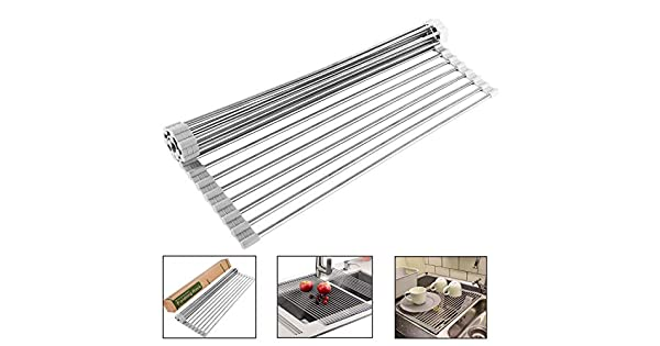 Amazon.com: NPLUX Over the Sink Roll Up Dish Drying Rack ...