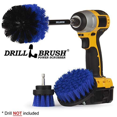 Marine Pond (Cleaning Supplies - Drill Brush - Boat Accessories - Marine Spin Brush Set - Kayak - Raft - Boat - Canoe - Inflatable - Fishing Boat - Algae - Pond Scum, Oil Residue, Barnacles, Oxidation)