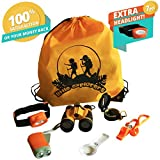 Outdoor Exploration Kit for Kids - Toy Binoculars, Flashlight, Magnifying Glass, Compass, Headlamp, Whistle, Backpack. Great Boys Birthday Gifts for your Children Explorer: Camping Gear/Adventure Kit