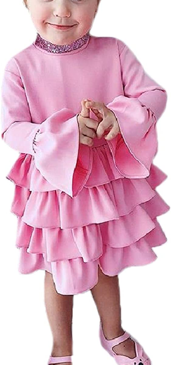 Little Baby Girl Trumpet Sleeve Tutu Skirt A Line 4 Layers Dress Skirts Spring Summer