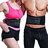 ASOONYUM Workout Back Braces Women Men Herniated Disc, Sciatica, Scoliosis, Lifting Weightlifting Belt Crossfit,Powerlifting, Running, Basketball - Lumbar Support Belt Adjustable Breathable