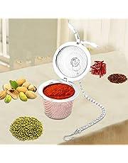 Tea Mesh Ball, Spice Filter Tea Sil Soup Infuser Små hål Mesh Ball Rostfritt stål Tea Sil med hängande kedja för soppa och te