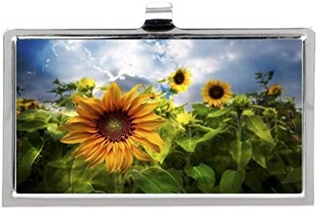 Sunflower Dream Image Business Name Card Holder Case
