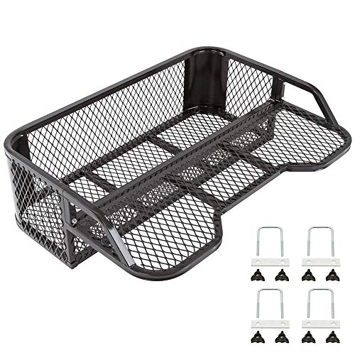 (Black Widow ATVDB-4315 Steel Mesh ATV Rear Rack Drop Basket)
