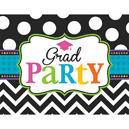 amscan Dream Big Graduation Party Postcard Invitations, 6