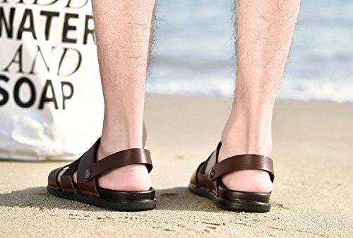 Uomo Sandali E Spiaggia Traspiranti da Scarpe Traspiranti LEDLFIE Estivi Brown da dEwETq