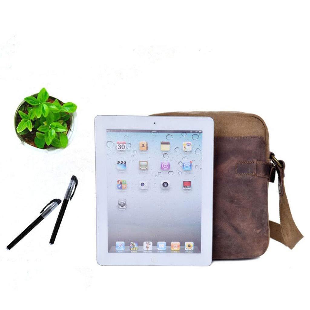 L W H Mens Shoulder Messenger Bag Retro Canvas Multifunction Travel Bag Business Work 8.662.759.44 Inches
