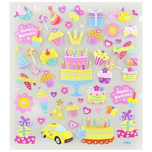 Anniversaire, votre Stickers multicolores Sparkles