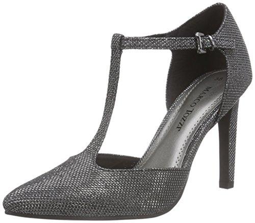 Marco Tozzi 24401 - Zapatos de Tacón Mujer Negro - Schwarz (Black Metallic 011)