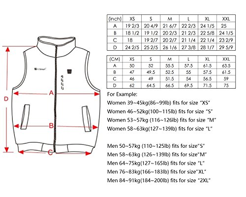 Prosmart Heated Vest Polar Fleece Lightweight Waistcoat with USB Battery Pack(XL) by PROSmart (Image #4)