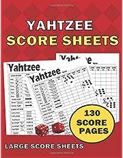 "Yahtzee score Sheets: Clear Printing with Correct Scoring Instruction | Large size 8.5"" x 11""130 Pages Premium| YAHTZEE SCORE CARDS"