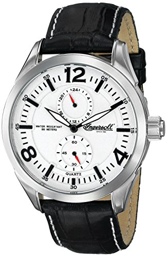Ingersoll Men's INQ028WHBK Wellington Analog Display Japanese Quartz Black Watch