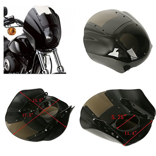ABS Quarter Fairing & Smoke windshield For Harley XL 1988-Up Dyna models 95-05 Handlebar Riser Accents