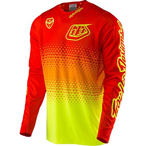 Troy Lee Designs 2017 SE Air Starburst Jersey-Flo Yellow/Orange-XL ()
