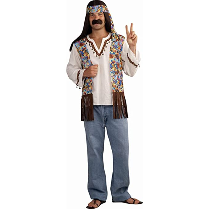 Amazon.com: Forum Novelties disfraz de hippie bien padre con ...