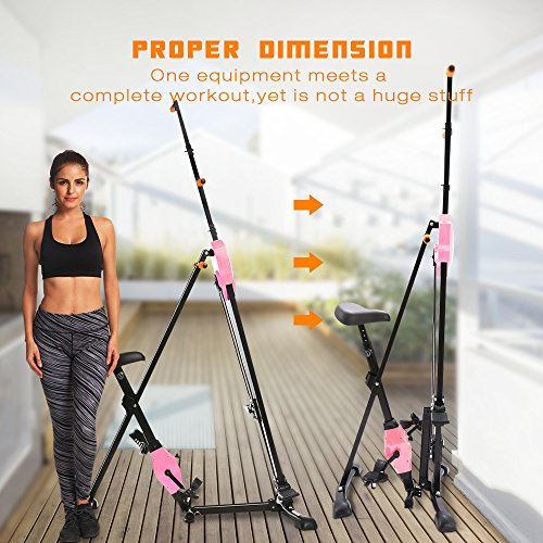 ANCHEER Vertical Climber Folding Exercise Climbing Machine, Exercise Equipment Climber for Home Gym, Exercise Bike for Home Body Trainer (Pink) by ANCHEER (Image #5)