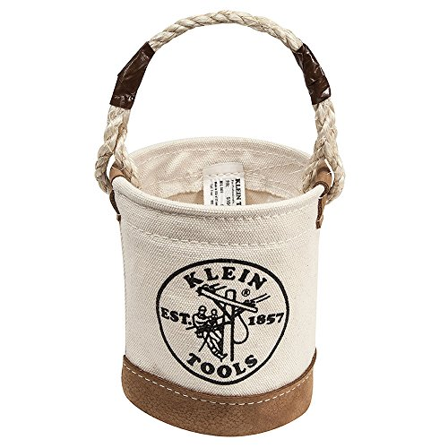 Canvas Bucket Bag - Mini Leather-Bottom Bucket Klein Tools 5104MINI