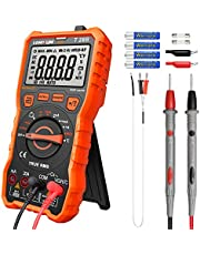 LOMVUM Digital Multimeter Tester, TRMS 6000 Counts Auto-Ranging Volt Meter; Measures Voltage Tester, Current, Resistance, Continuity, Frequency; Tests Diodes, Capacitance, Temperature Battery Included