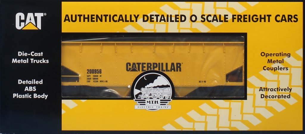 MTH 1:48 O Scale 2 Bay Offset Hopper Car Caterpillar #200956 #20-90468G