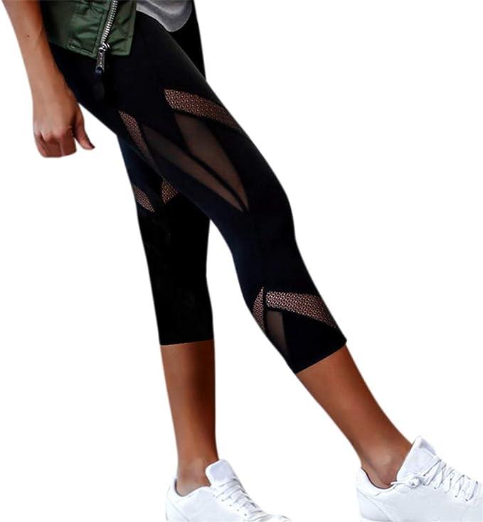 Bluestermall Leggings Sportivi Da Fitness Per Donna Pantaloni Slim Aderenti Per Lo Yoga Amazon It Abbigliamento