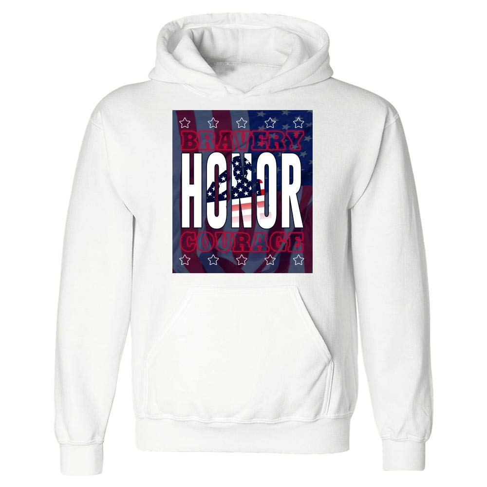 Stuch Strength Funny Memorial Day Bravery Honor Courage Hoodie American Flag Humor