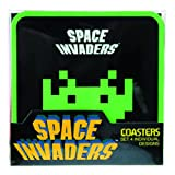 50Fifty Space Invaders Coasters Set, 4-Piece